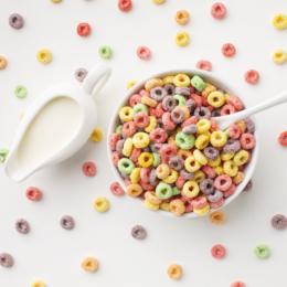 cereales de desayuno de colores